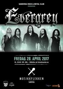 Plakat Evergrey Musikkflekken A3