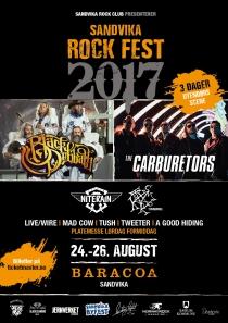 Plakat Sandvika Rock Fest 2017