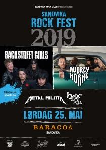 Plakat Sandvika Rock Fest 2019 A3